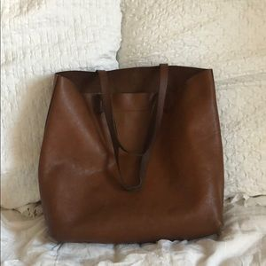 Madewell Transport Tote Leather